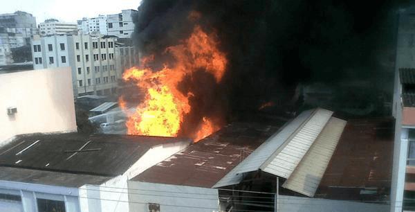 Incendio de las pinturas Guayaquil